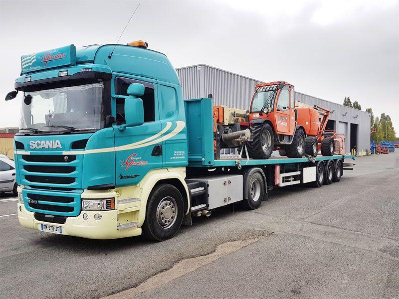 Transport engin de chantier Rennes 35